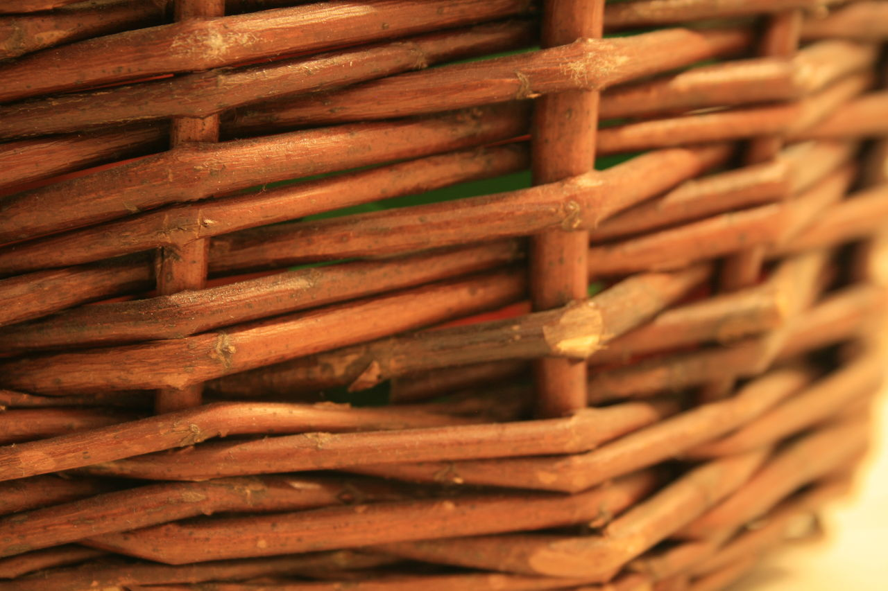 Backgrounds Basket Brown Close-up Day EyeEmNewHere Nature No People Willow Wood - Material Woven Woven Baskets Woven Pattern