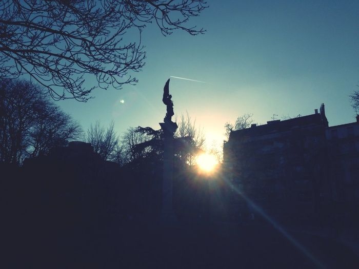 Sunset Statue Enjoying The Sun