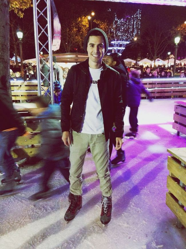 Ice Skating on the Champs