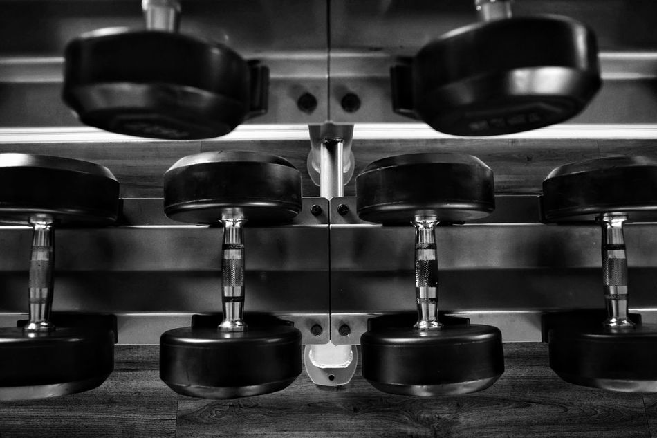 Indoors  No People Gym Close-up Day Dumbells Dumbell Blackandwhite Black And White Black & White Sport Indoors  Exercise Exercising Weights Weight Resist