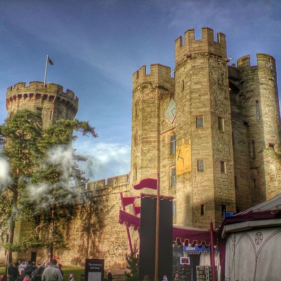 Warwick Castle 1068 Warwickshire uk england historic sunny day blue sky snapseed 365cz fmcz hdr picoftheday photooftheday insta instaplace instapic followme