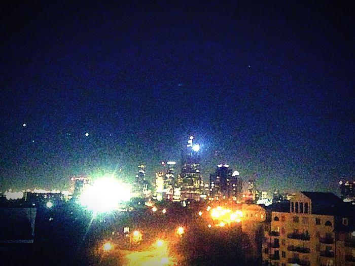 Houston skyline at night