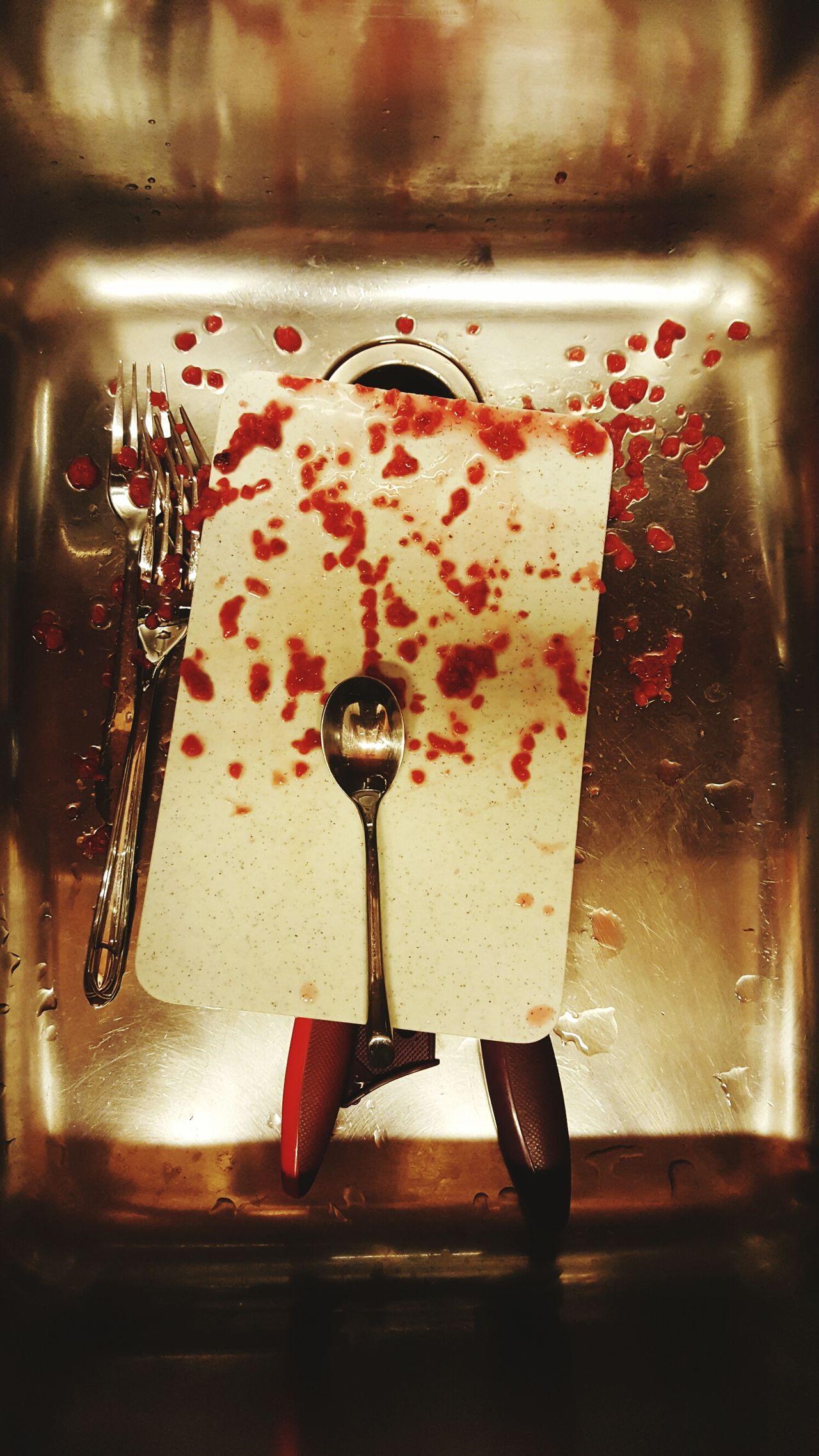 EyeEm Gallery EyeEm Best Shots Kitchen Berries Spoon Fork & Knife Sink Indoors  No People Close-up Red Pink