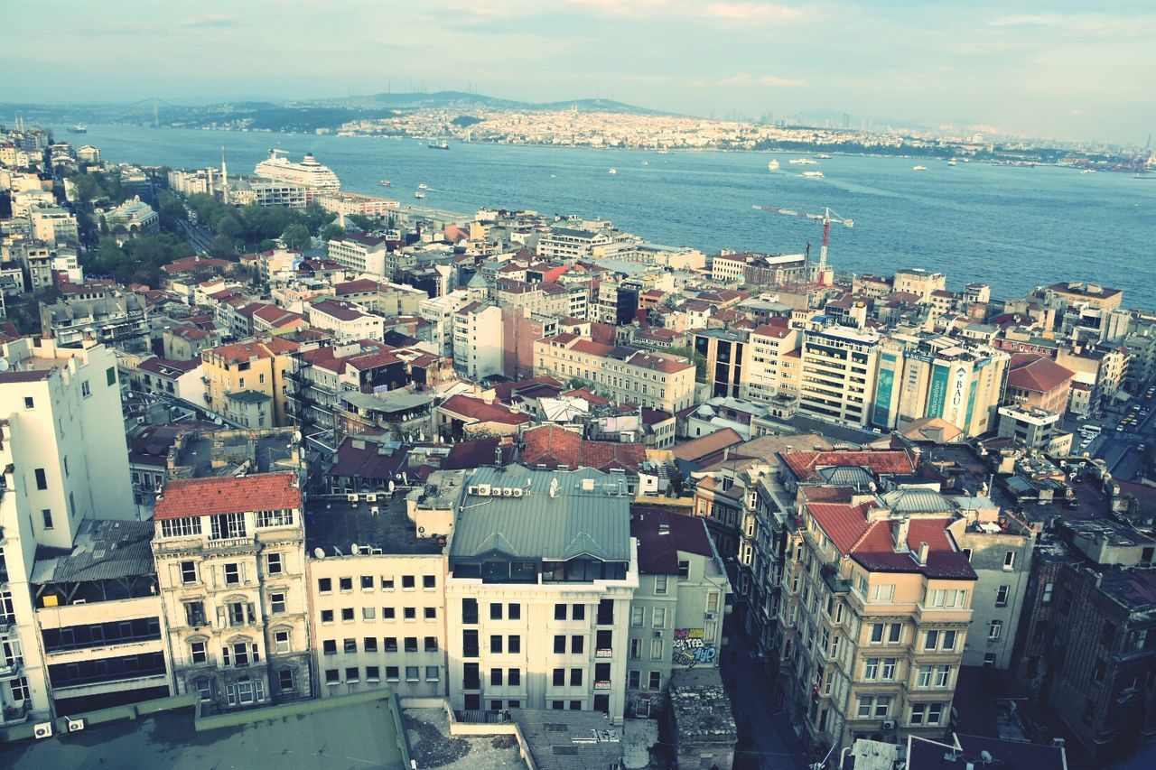 From The Rooftop Estambul Istanbul Turkey Galata Tower