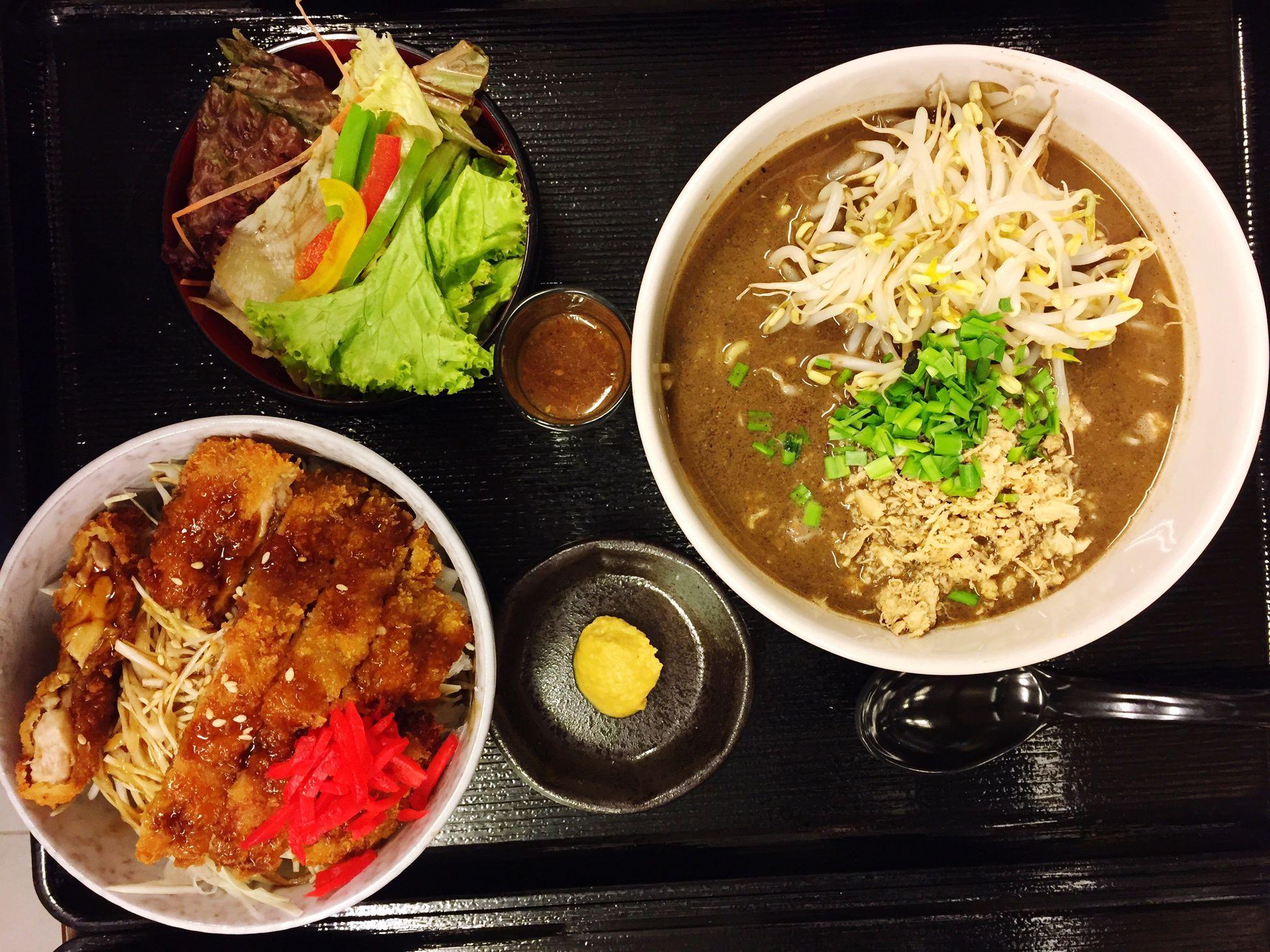 miso chiken katsu don + kuro tantanmen @diningshion @Japan @cikarang Enjoying Life @jawabarat Check This Out First Eyeem Photo