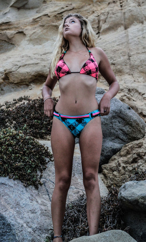 California San Diego Beach Beautiful Female Model Tanya Modeling Moonlight Beach Encinitas Swimwearshoot Swimwear Female Model Bikini