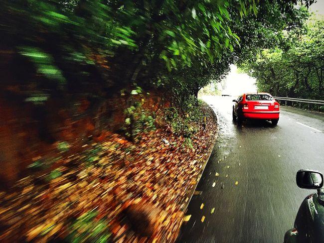 Cars Highway Rainy Days Amazing Scenery Shots