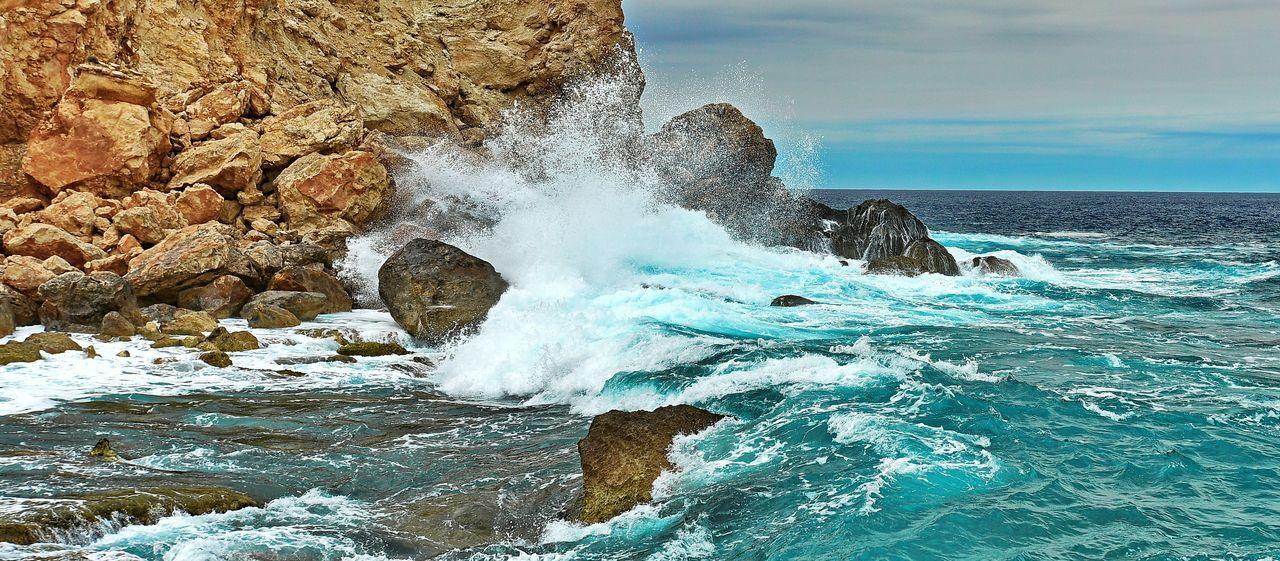 Hello World Ibiza Eivissa I Love Ibiza Landscape_photography Nikonphotography Nature Landscape_Collection Color_of_ibiza Blue Wave Playing_wasser I Love This F*cking Island! Potinax