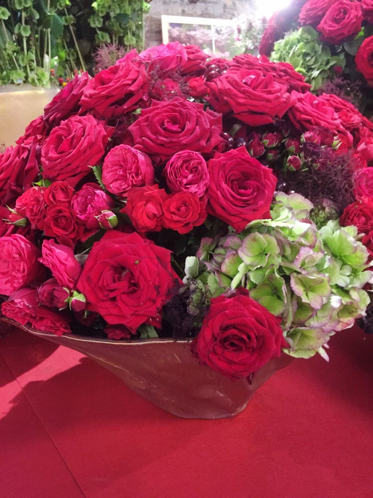 Flower bouquet with red roses Flower Rose - Flower Beauty In Nature Fragility Red Bouquet Petal Nature Freshness Flower Head No People Indoors  Day Flower Market Close-up Florist Decoration Valentine's Day  Flower Arrangement Mother's Day Red