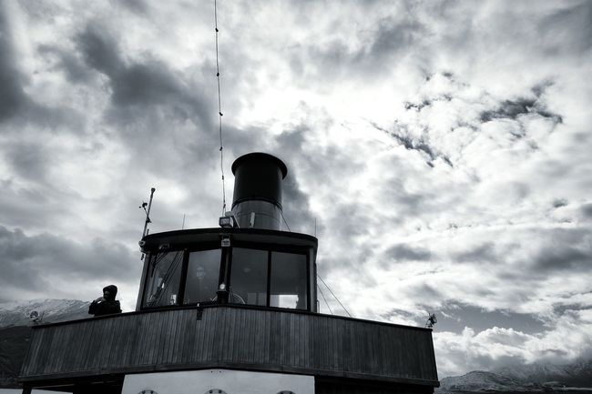 TSSEarnslaw Ts Earnslaw Steam Boat Lake Wakatipu Foggy Boat Boats Fiordland Travelling New Zealand NZ South Island Showcase: November Snow Capped Mountains Queenstown Blackandwhite Black & White Bnw Black And White Photography