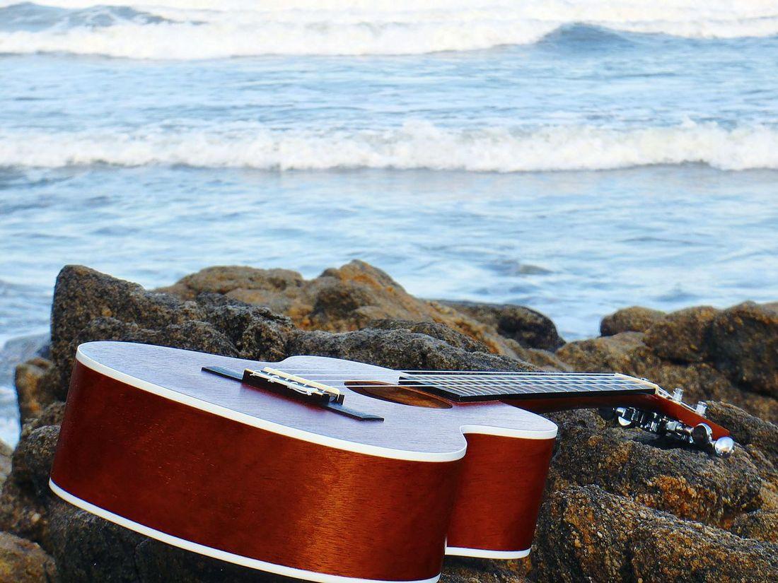 Ukule Music Waves Playing My Ukulele Aloha