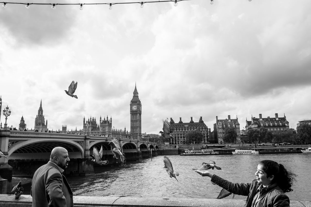 Adult Adults Only Architecture Big Ben Building Exterior City Cityscape Clock Tower Cloud - Sky Cultures Day One Person Outdoors People Real People Sky Travel Travel Destinations Urban Skyline Westminister Westminister Bridge
