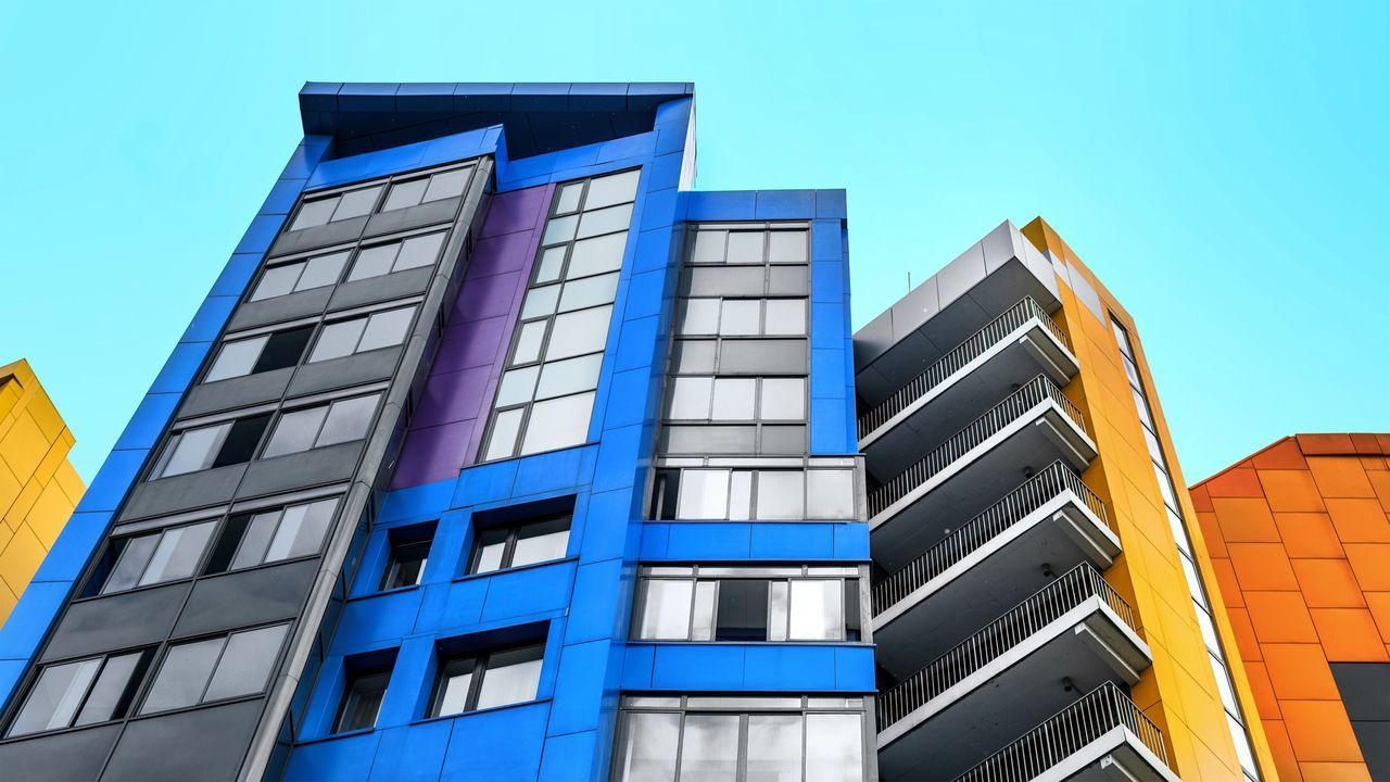 Architecture Building Exterior Built Structure Clear Sky Window Blue Modern Low Angle View Day Outdoors No People Sky Skyscraper City