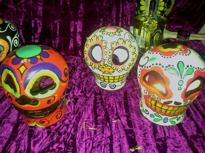 Hi! Dia De Los Muertos Mexico Restaurant Barcelona Relaxing Hello World Samsungphotography Human Representation Colorful Viva Mexico Atmosphere Mystery Atmospheric Mood Halloween Drinks