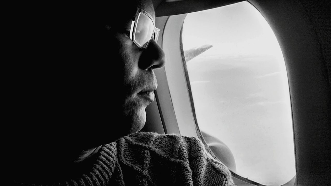 Beautiful stock photos of plane, Airplane, Casual Clothing, Close-Up, Contemplation