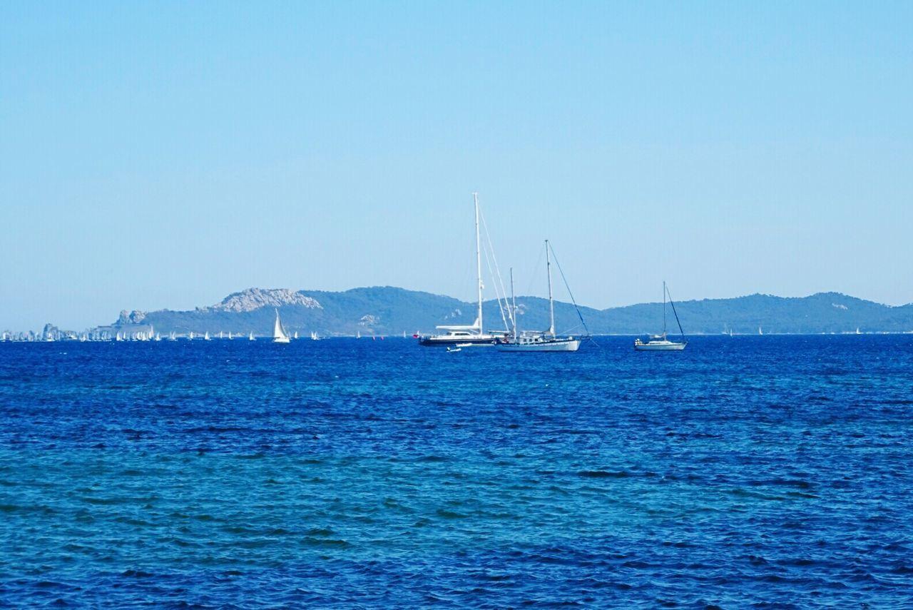 Blue Sea Water Bateau ❤️ Sky