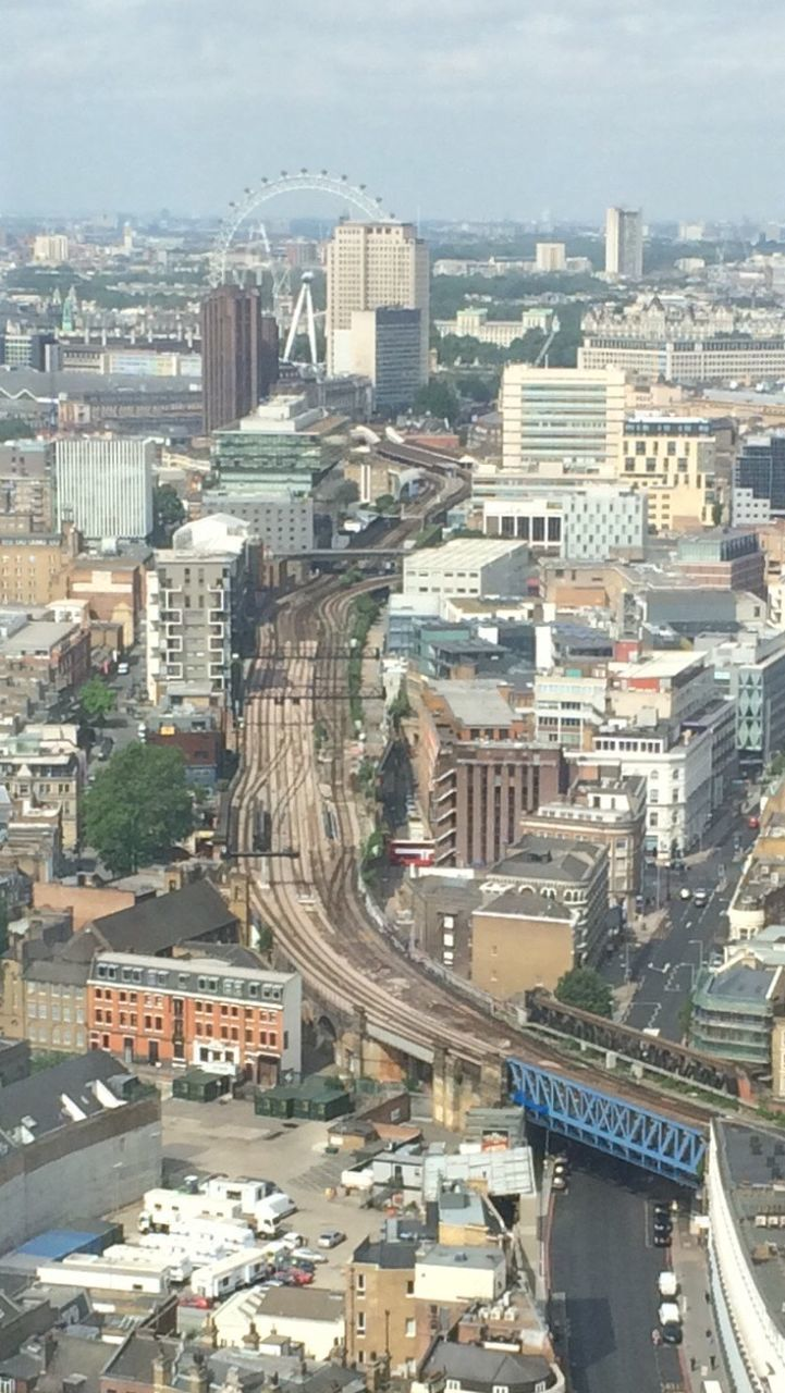 architecture, cityscape, building exterior, high angle view, city, built structure, day, no people, outdoors, aerial view, sky