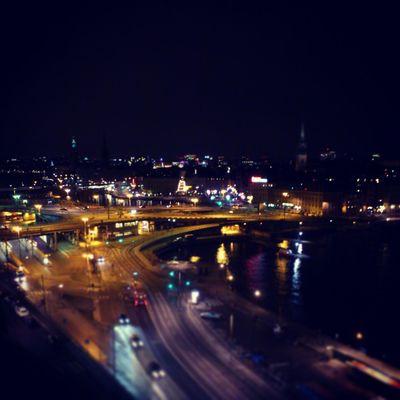 Night time in Stockholm. Sweden Stockholm Urban City