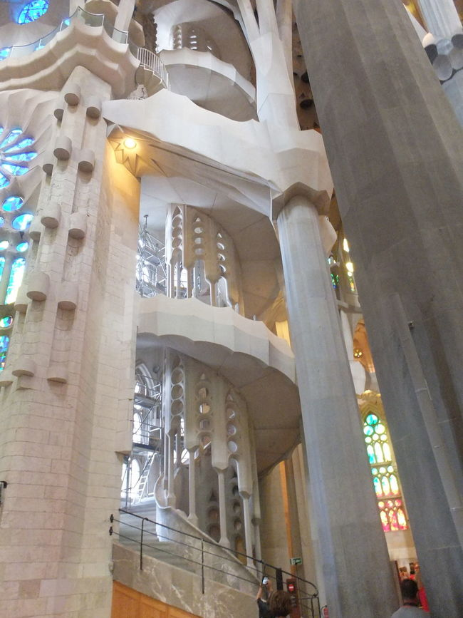 Staircase, La Sagrada Familia Architectural Columns Architectural Feature Architecture Barcelona Church City Composition Famous Place Full Frame Gaudi History Indoor Photography La Sagrada Famila Low Angle View Modern No People Place Of Worship Religion Religions Spaın Staircase Tourism Tourist Attraction  Tourist Destination Travel Destinations