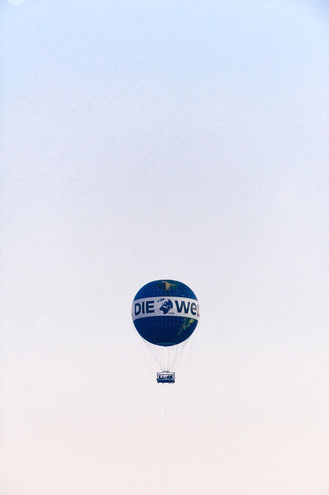 Landmark. Copy Space Clear Sky Blue Flying No People Outdoors Day Hot Air Balloon Nature Parachute