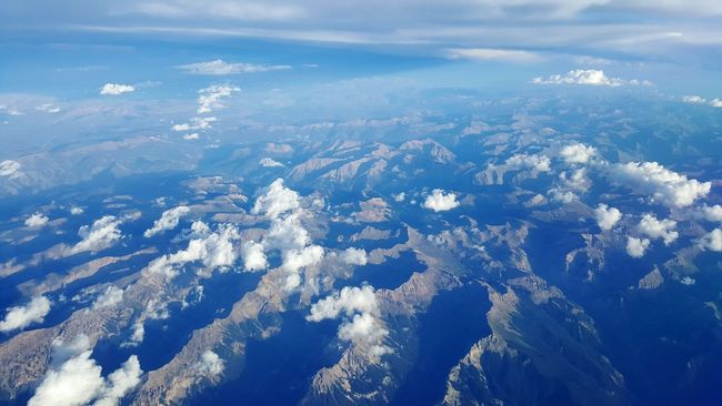No People View From The Airplane Window View From Above Mountains Blue Sky Shadows & Lights Topography Landscape_Collection North American Geography Western Landscape Color Palette Colorado Rocky Mountain Range A Bird's Eye View High Altitude Cruisingaltitude