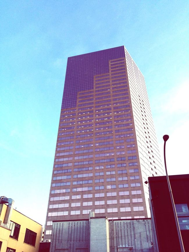 Portland Oregon EyeEm Gallery From My Point Of View Eye4photography  Tall Buildings The Big Pink Lookingup Downtown