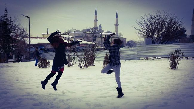 It's Cold Outside Day People Snow Snowfight Coldday Snowing Lanscape Showcase: January Turkey Edirne
