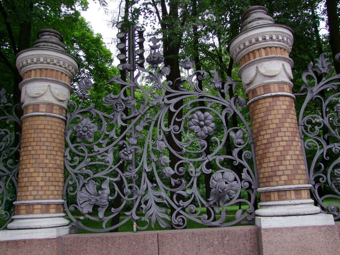 Ornate Fencing around Church of Spilled Blood Art Built Structure City Coloumns Composition Creativity Fancy Fence Fence Posts Full Frame Iron Fence No People Ornate Outdoor Photography Russia Saint Petersburg Sculpture Tourism Tourist Attraction  Tourist Destination Tranquility Tree Unusual Wrought Iron Fencing