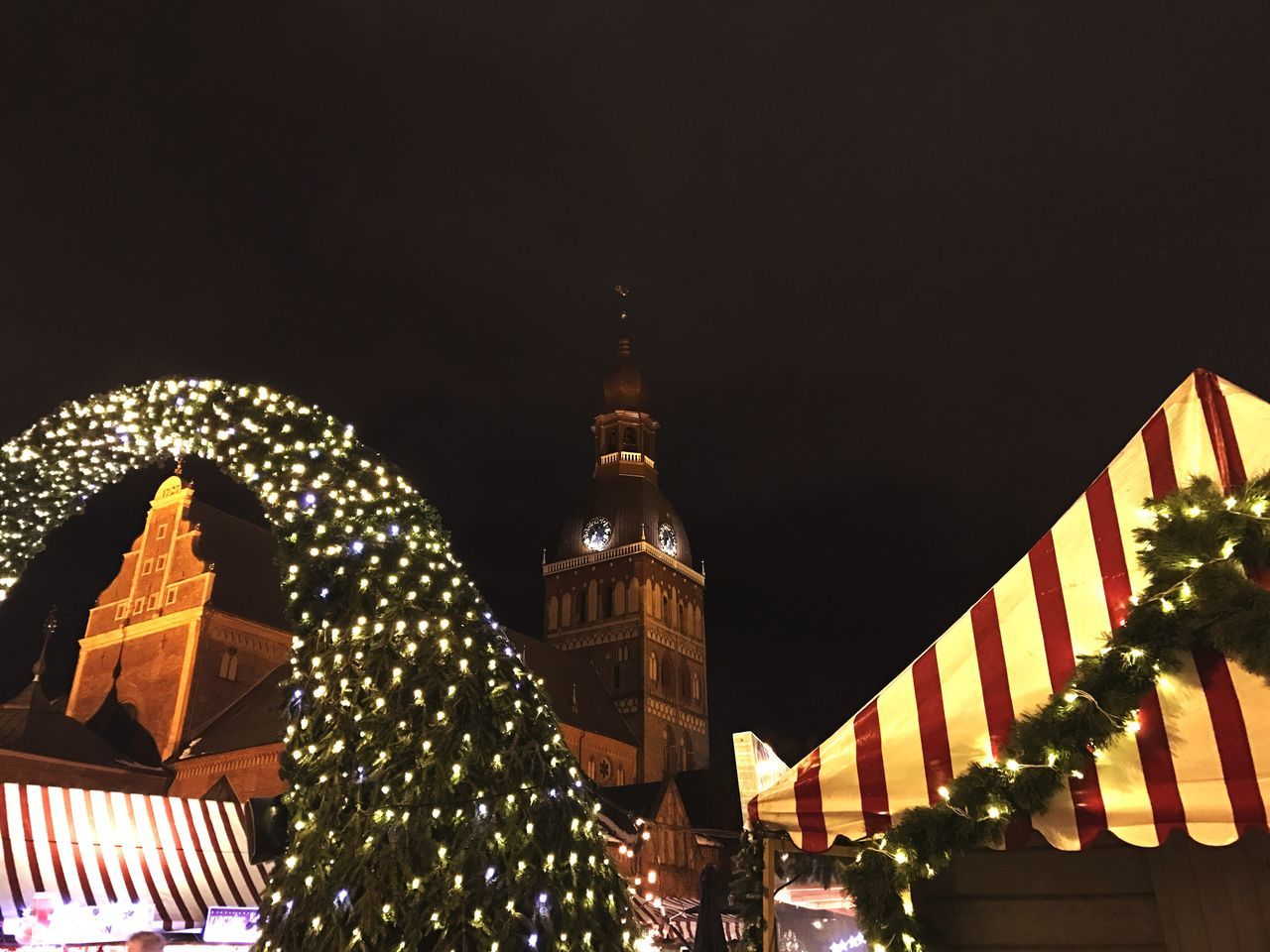 Night Architecture Illuminated Built Structure Building Exterior Christmas City No People Low Angle View Outdoors Sky Christmas Decoration Christmas Tree Christmas Lights Christmas Spirit Christmas Market Riga Riga Latvia