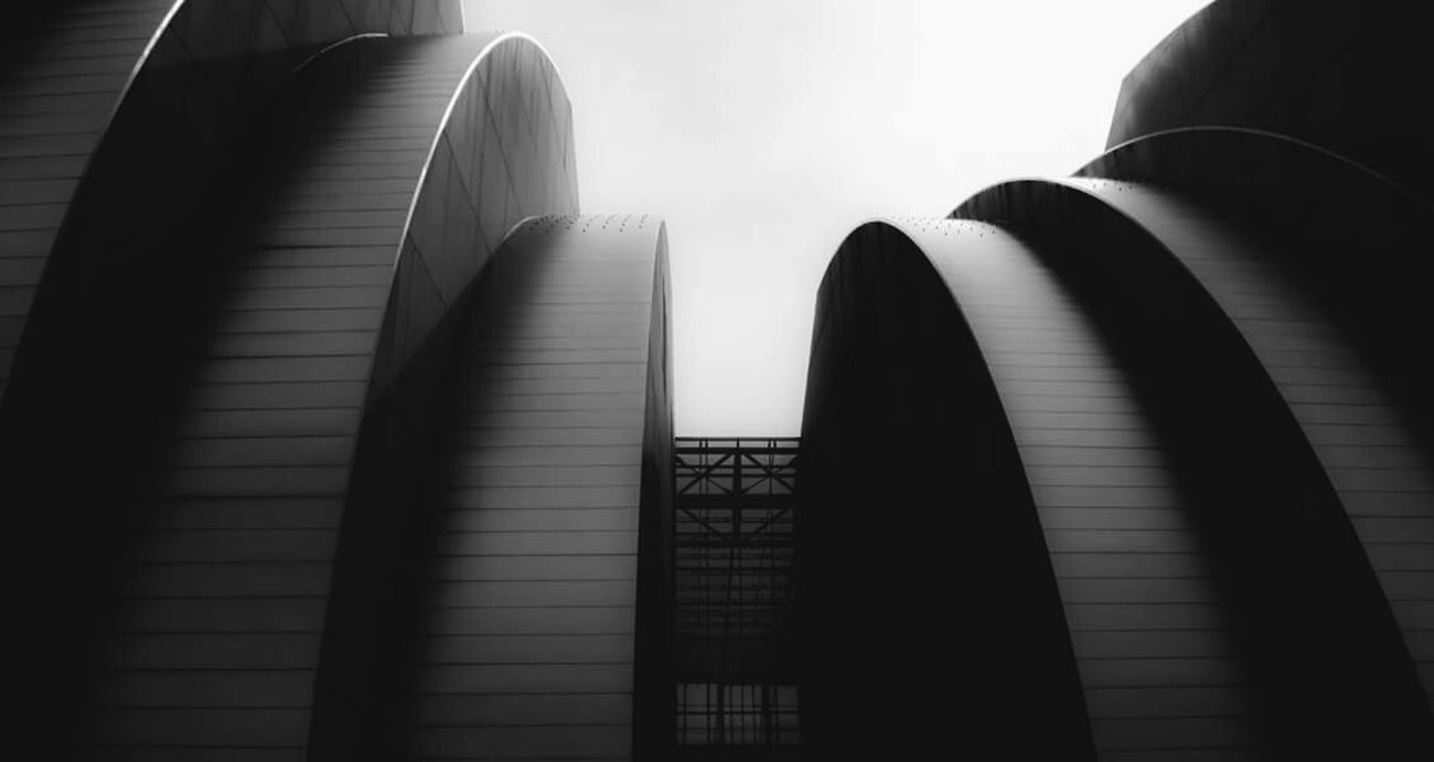 Up and away..... Kauffman Center Architecture Black & White Downtown Kcmo Kc Crossroads Streetphoto_bw Modern Architecture Urban Geometry