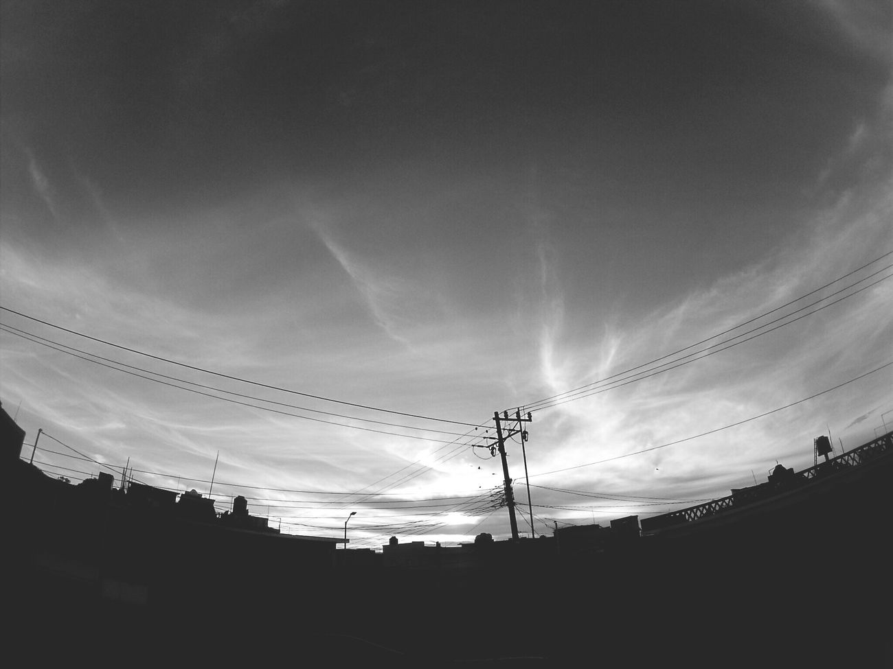 Cable Sky Power Line  Electricity  Power Supply Connection Fuel And Power Generation Low Angle View Electricity Pylon Outdoors No People Cloud - Sky Technology Day Architecture Blackandwhite