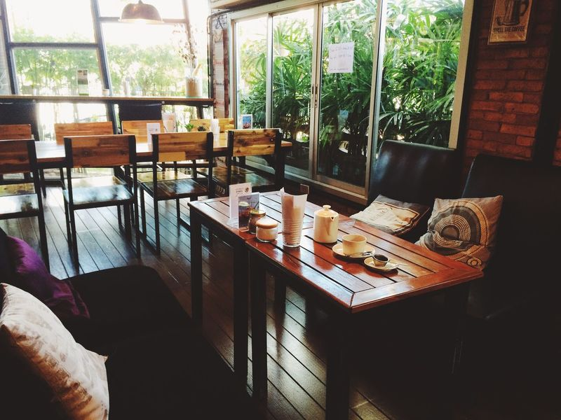 Breakfast Thailand Cafe Chair Day Furniture Home Interior Indoors  Interior Design Island No People Reastaurant Table Window Wood - Material