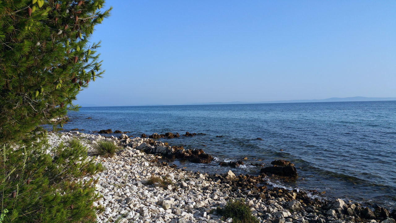 Beauty In Nature Blue Calm Clear Sky Coastline Day Horizon Over Water Idyllic Nature No People Non Urban Scene Non-urban Scene Outdoors Remote Rippled Rock Rock - Object Rock Formation Scenics Sea Shore Sky Tranquil Scene Tranquility Water