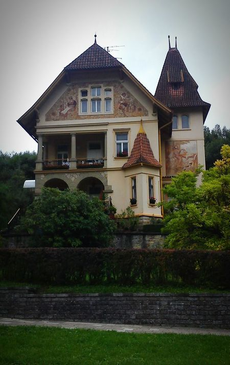 Moravia Luhacovice House Building Architecture Architecture_collection Architectureporn Architecturelovers Vintage Old House Tower Rooftop Roof Towers Villa Home OpenEdit Art ArtWork Wallart Wall Check This Out