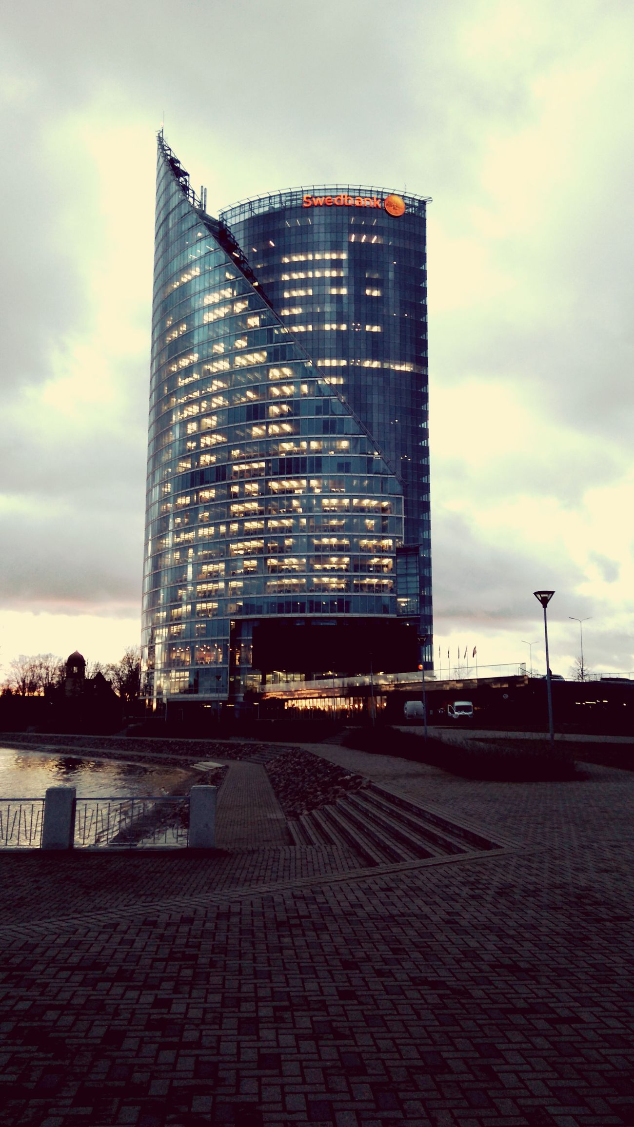 Taking Photos Simplicity Buildings Riga Swedbank