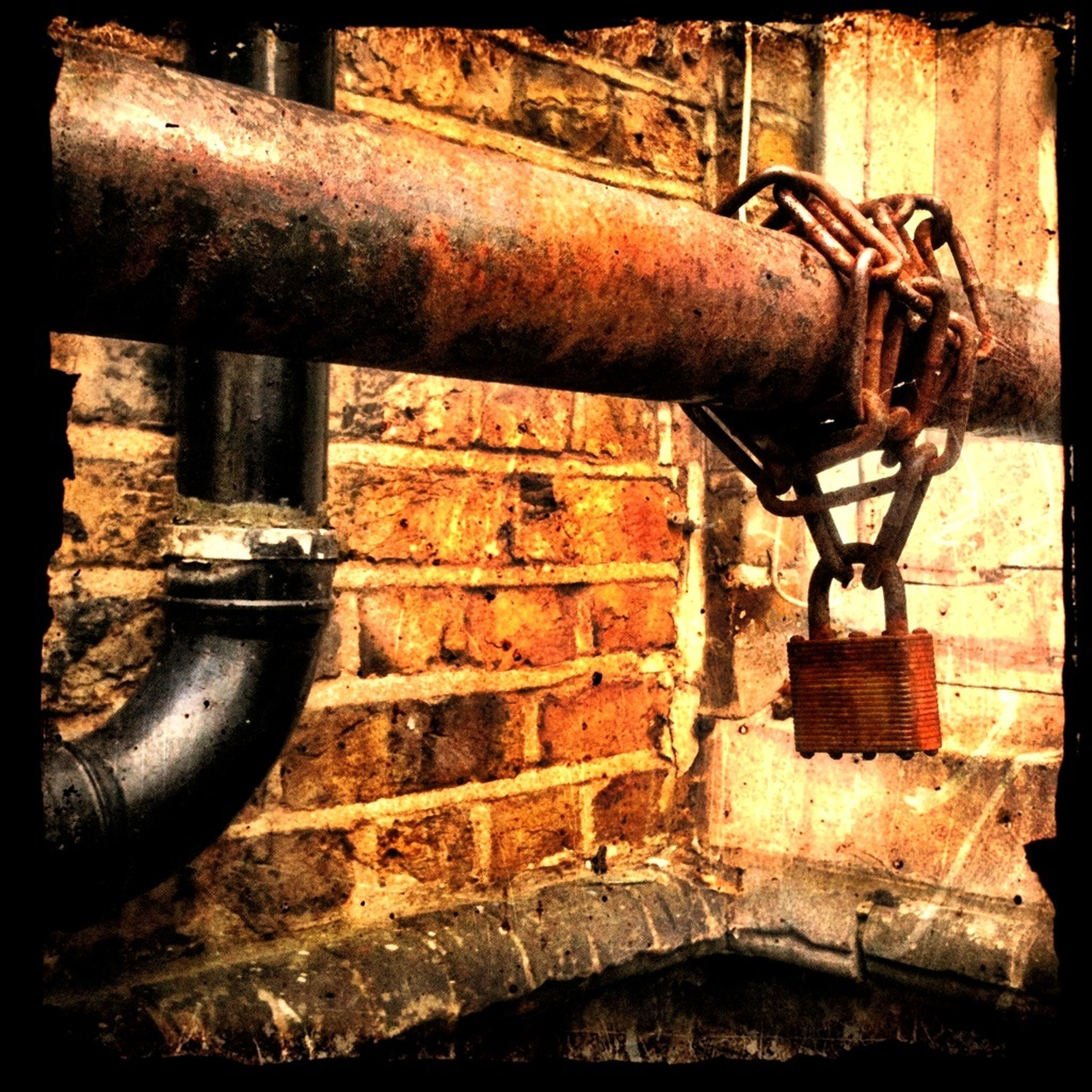rusty, metal, old, metallic, weathered, deterioration, obsolete, abandoned, close-up, run-down, damaged, chain, iron - metal, wall - building feature, indoors, bad condition, strength, day, machine part, auto post production filter