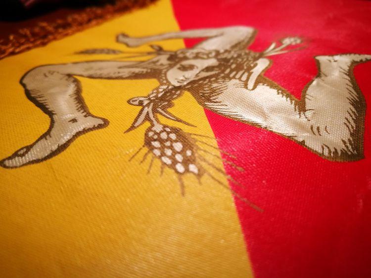 Colour Of Life My Life Love Sicily Sicilia Siciliabedda Yellow Red Trinacria Triscele