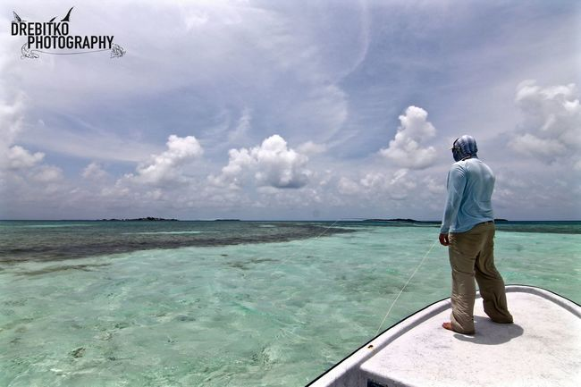 Searching the flats of Belize Belize  Fly Fishing Fish Adventure Explore Nature Permit Explore