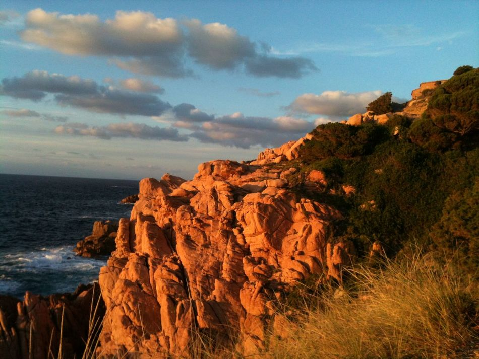 Cliffs Coast Costa Paradiso Italy Landscape Nature No People Rocks Romantic Sardinia Sardinien Sea Sunset
