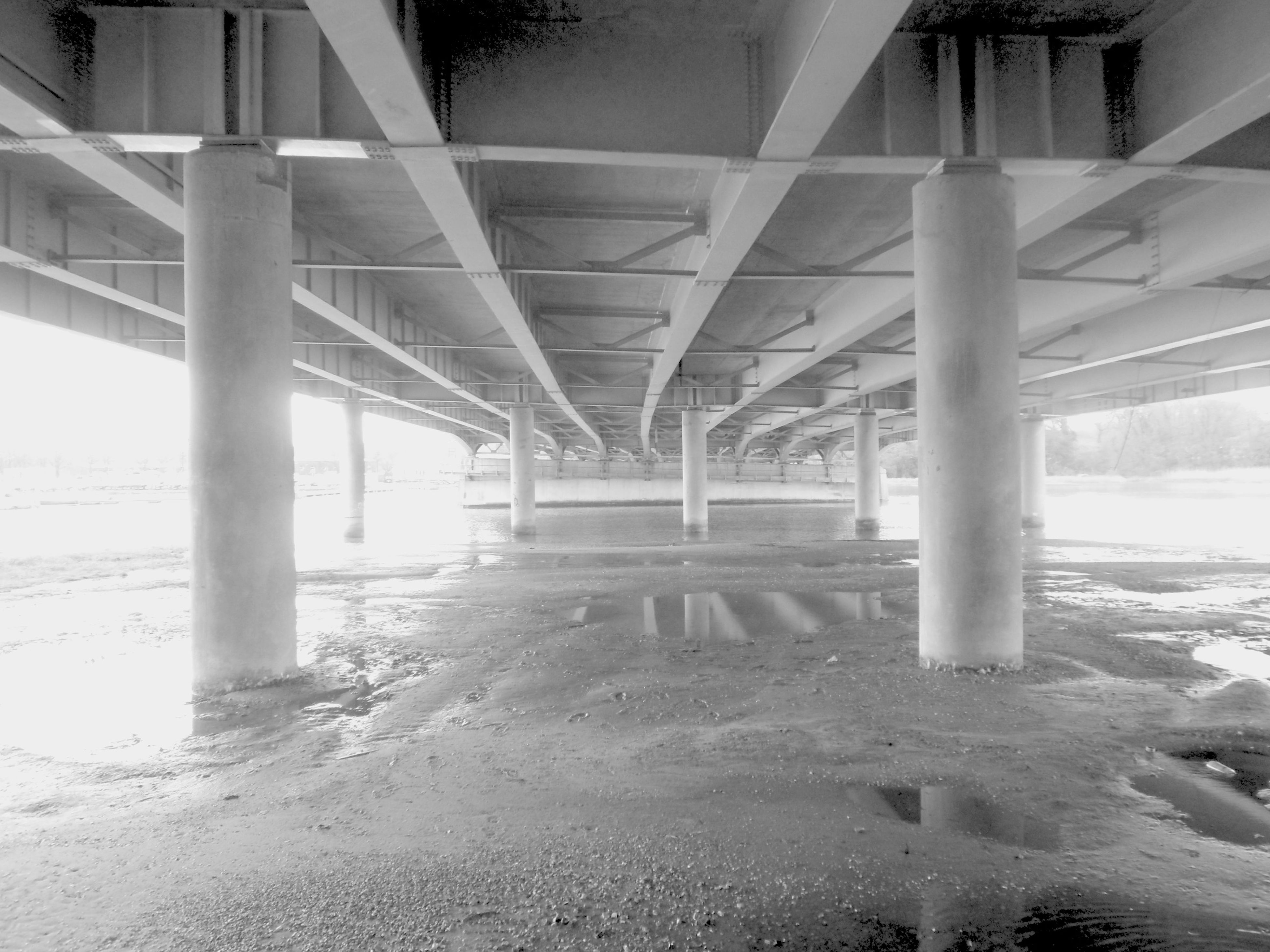 sand, built structure, day, architecture, bridge - man made structure, beach, no people, outdoors, nature, underneath, water