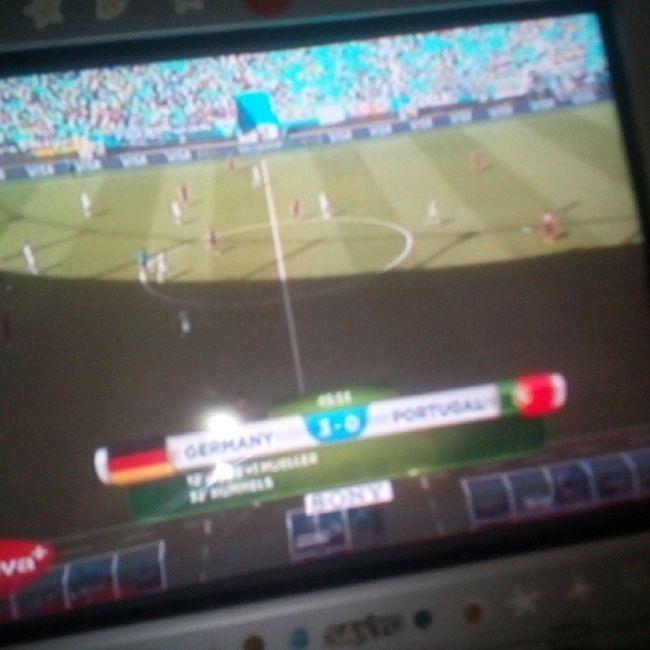 Germany vs Portugal halftime 3-0 16juni2014 Worldcup2014 Worldcupmoment Younglic_alfgil football