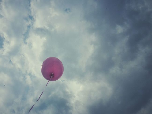 Pink pink pink... today all is pink in my town | Baloon Pink Giro D'Italia 2016 The Street Photographer - 2016 EyeEm Awards Getting Inspired Clouds And Sky Alone Castelfranco Veneto EyeEm Italy |