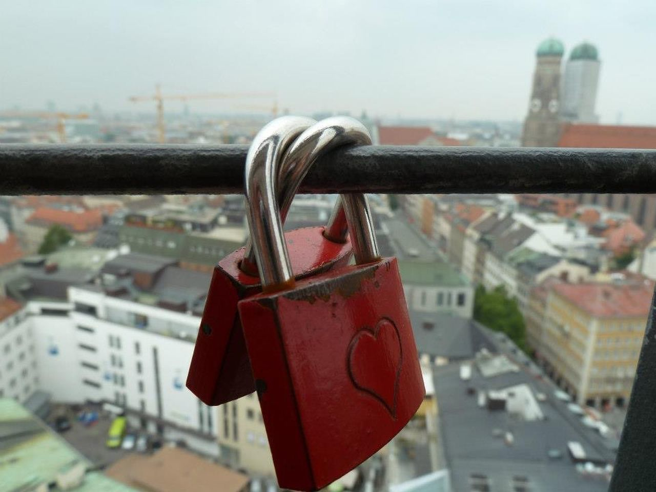 Love Liebe Schloss Munich München Romantic Padlocks Heart Herz Love ♥ Lovely Lovelovelove Church View View From Above Heart ❤ Hearts Forever Foreverlove Lock Sightseeing Walking Around Views Adapted To The City