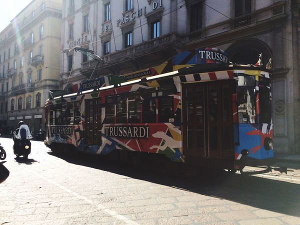 Trusardi Milano Taking Bus Streetbus Colorful IPhoneography