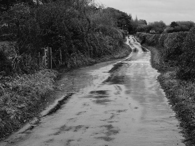 Wirral Heswall Rain Black And White