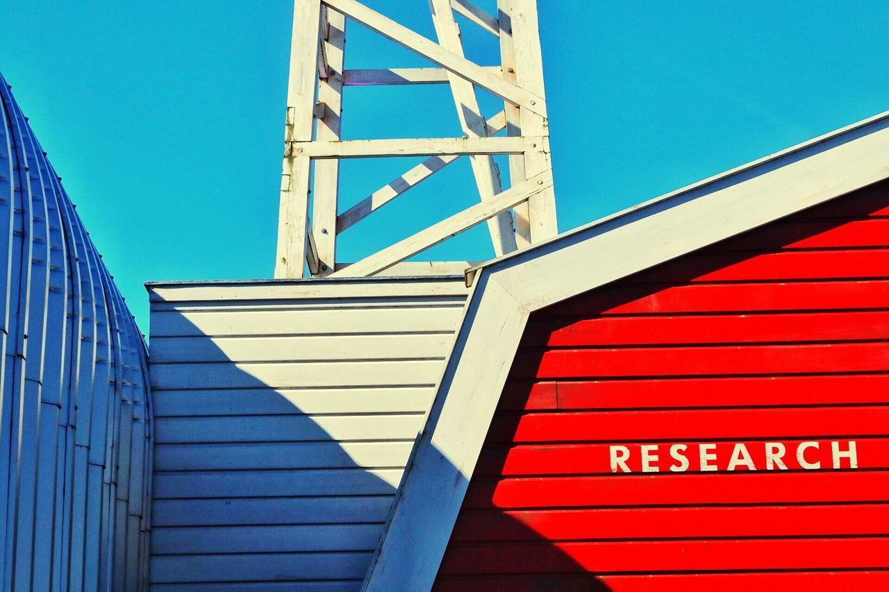 Communication Built Structure Architecture Blue Building Exterior Wooden House Blue Sky Research Research Station Research And Development Clear Sky Wooden Building Clear Sky Science Station Outdoors Sky