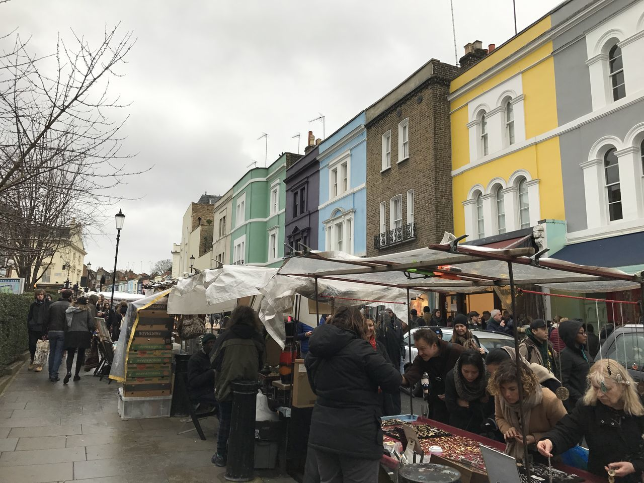 Adult Adults Only Architecture Building Exterior Built Structure City Day Large Group Of People London Men Outdoors People Portobello Market Portobello Road Real People Sky United Kingdom Women EyeEm LOST IN London