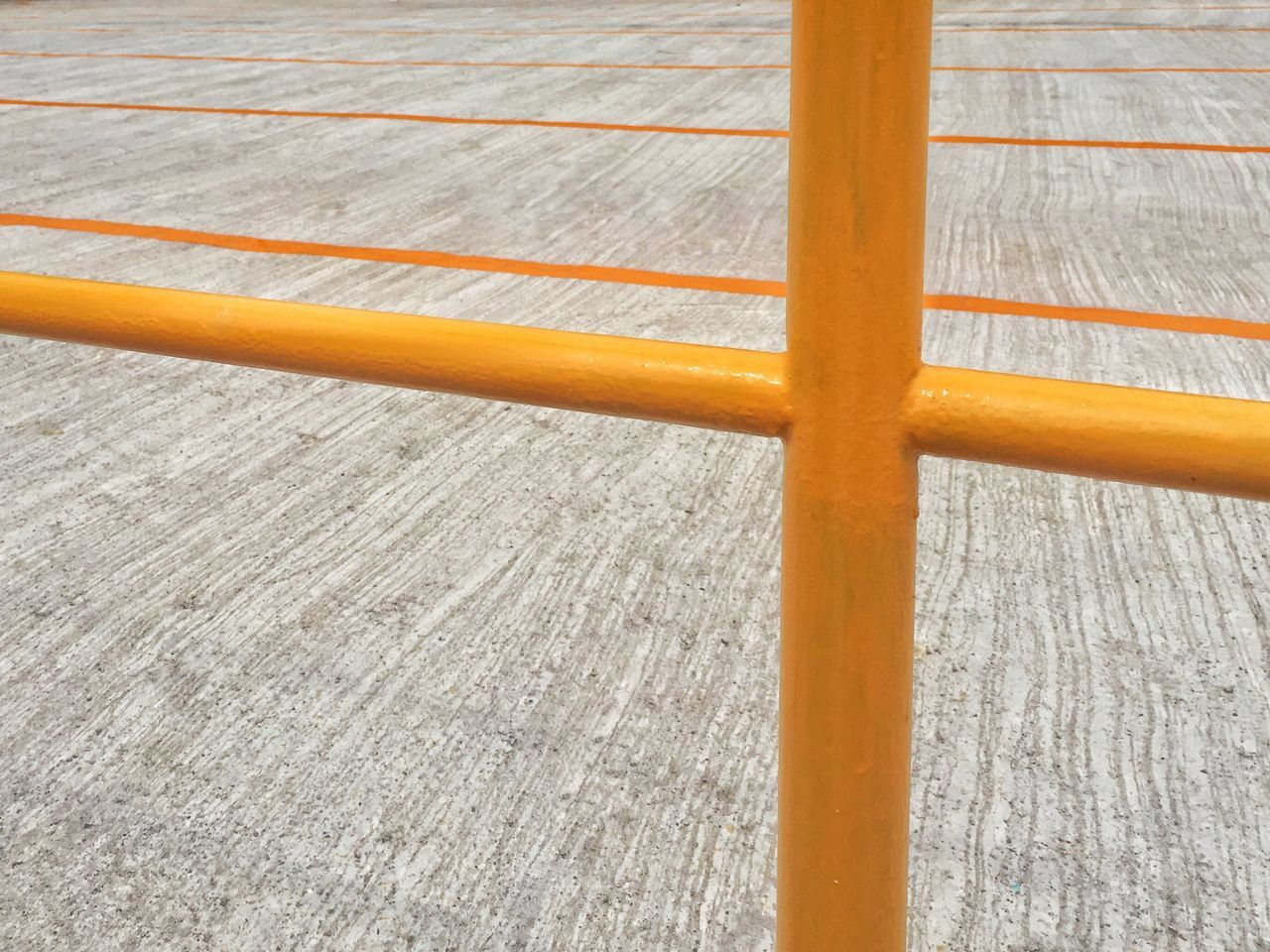 Fence Yellow Color Concrete Floor Yellow Lines Textures And Surfaces Parking Area Minimalist Photography  Thailand_allshots