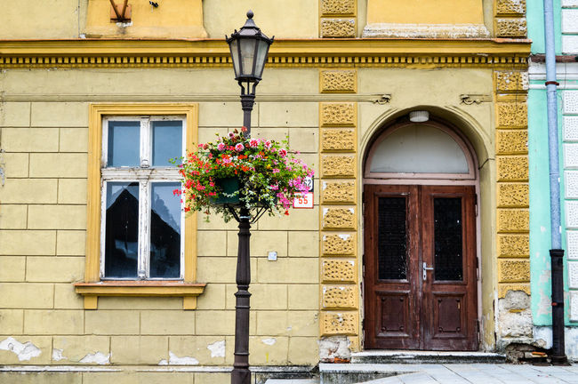 Architecture Bad Condition Building Building Exterior Built Structure City City Street Doors Exterior Façade Flower Flower Pot Potted Plant Residential Building Residential Structure Street TheWeekOnEyeEM Urban Geometry Urban Lifestyle Urban Perspectives Urban Photography Window Eyeemphoto