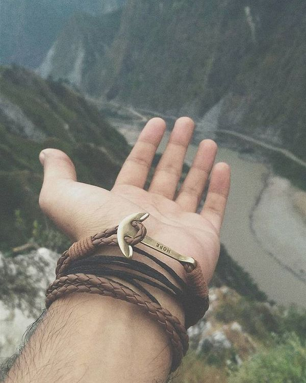 The ❄ in the air.. 🗻 Hope Anchorbracelet Jammu Reasi Hills